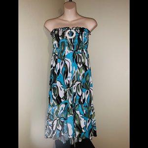 NWOT Candies Beautiful bandeau tropical dress